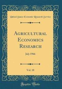 Agricultural Economics Research, Vol. 18