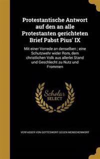 GER-PROTESTANTISCHE ANTWORT AU