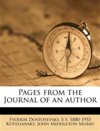 Pages from the Journal of an autho