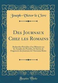 Des Journaux Chez les Romains