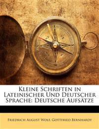 Kleine Schriften in lateinischer und deutscher Sprache. II. Deutsche Aufsätze