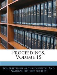 Proceedings, Volume 15