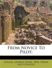 From Novice To Pilot;