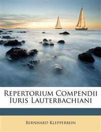 Repertorium Compendii Iuris Lauterbachiani