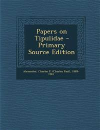 Papers on Tipulidae
