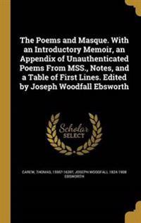 POEMS & MASQUE W/AN INTRODUCTO