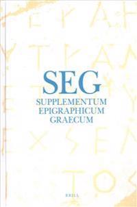 Supplementum Epigraphicum Graecum, Volume LXIII (2013)