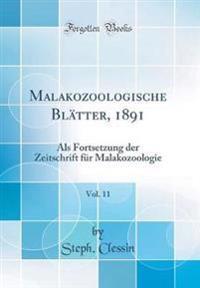 Malakozoologische Blätter, 1891, Vol. 11