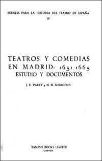 Teatros y Comedias en Madrid 1651-65