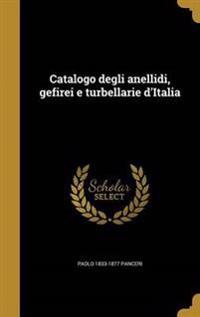 ITA-CATALOGO DEGLI ANELLIDI GE