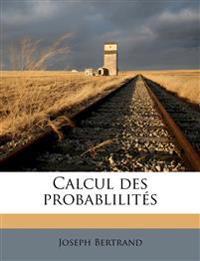 Calcul des probablilités