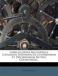 Lamellicornia Melitophila: Catalogus Systematicus Cetonidarum Et Trichiidarum Ad Huc Cognitarum...