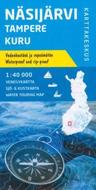 Näsijärvi-Tampere-Kuru, veneilykartta 1:40 000