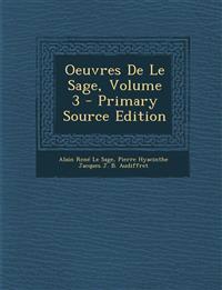 Oeuvres De Le Sage, Volume 3