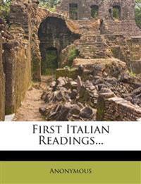 First Italian Readings...