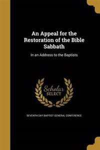 APPEAL FOR THE RESTORATION OF