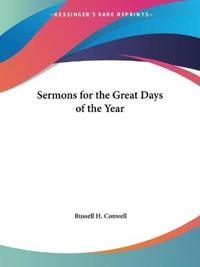 Sermons for the Great Days of the Year 1922