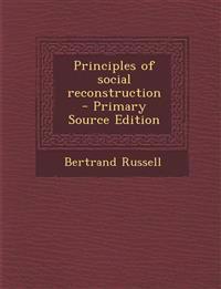 Principles of Social Reconstruction
