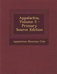 Appalachia, Volume 5