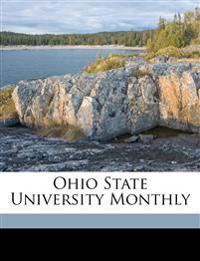 Ohio State University Monthly Volume 4, no.8