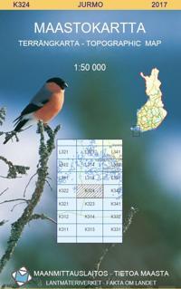 Maastokartta K324 Jurmo 1:50 000