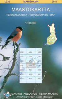 Maastokartta L233 Mariehamn 1:50 000