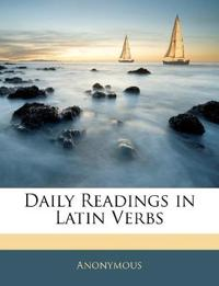Daily Readings in Latin Verbs