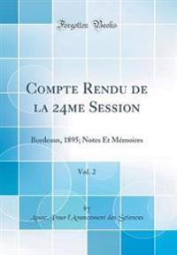 Compte Rendu de la 24me Session, Vol. 2