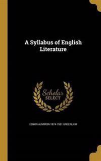 SYLLABUS OF ENGLISH LITERATURE