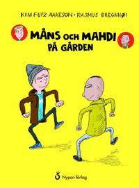 Måns och Mahdi på gården