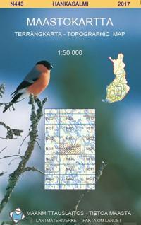 Maastokartta N443 Hankasalmi 1 50 000 Kirjat Kartta Viikattu