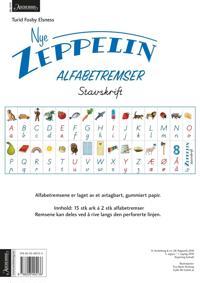 Nye Zeppelin 1. Alfabetremser. Stavskrift. Norsk for barnetrinnet. 15 ark á 2 stk alfabetremser - Turid Fosby Elsness   Ridgeroadrun.org