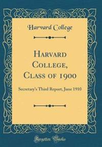 Harvard College, Class of 1900