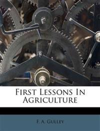 First Lessons In Agriculture
