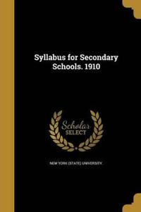 SYLLABUS FOR SECONDARY SCHOOLS