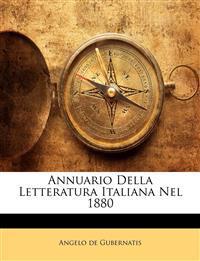 Annuario Della Letteratura Italiana Nel 1880