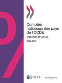 Comptes Nationaux Des Pays de L'Ocde, Volume 2017 Numero 2