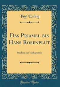 Das Priamel bis Hans Rosenplüt