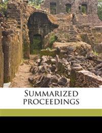 Summarized proceedings Volume v. 23  1874