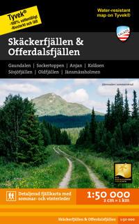Skäckerfjällen & Offerdalsfjällen 1:50.000