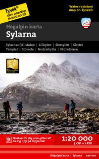Högalpin karta Sylarna 1:20.000
