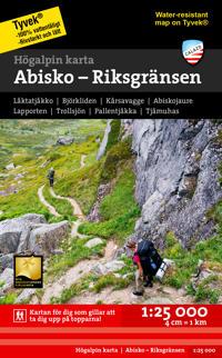 Högalpin karta Abisko, Björkliden - Riksgränsen 1:25.000
