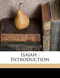 Isaiah : Introduction Volume v.23:2