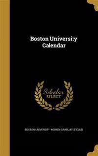 BOSTON UNIV CAL