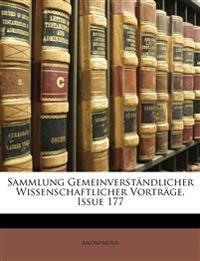 Sammlung Gemeinverständlicher Wissenschaftlicher Vorträge, Issue 177