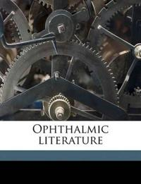 Ophthalmic literature Volume 3, no.1