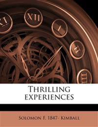 Thrilling experiences