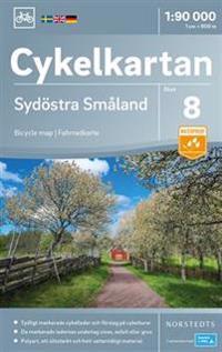 Cykelkartan Blad 8 Sydöstra Småland : Skala 1:90.000