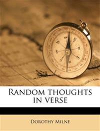 Random thoughts in verse