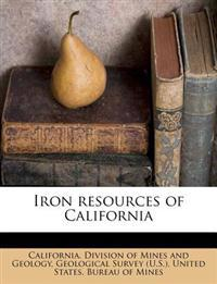 Iron resources of California